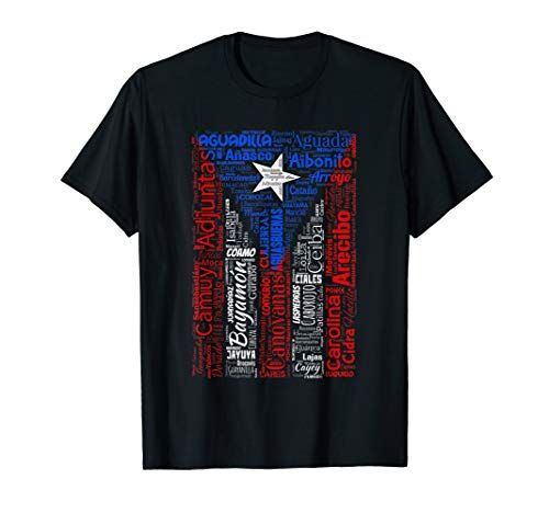 842 255 Puerto Rican Flag Shirt With Towns And Cities Of Puerto Rico Puerto Rican Flag Puerto Rico Puerto Ricans