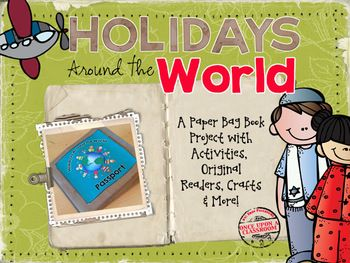 Holidays around the world paper bag book with crafts for Holidays around the world crafts