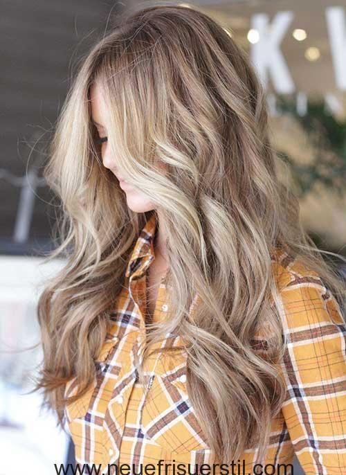 Lange Blonde Wellige Frisur Wellige Frisuren Lange Blonde Haarschnitte Haarschnitt