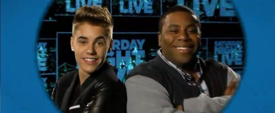 CLICK FOR VIDEO! Justin Bieber and Kenan Thompson yuk it up on Saturday Night Live