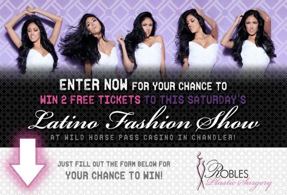 ¿Te enteraste del Latino Fashion Show de este fin de semana?     Gánate dos entradas gratis, ¡dale clic AHORA para ganar!