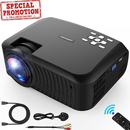 Mini Projector Dbpower 2018 Upgraded 80 Brightness Lcd Mini Projectors Projector Video Projector