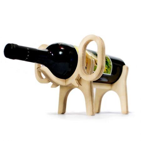 Wine holders plywood and elephants on pinterest - Elephant wine bottle holder ...