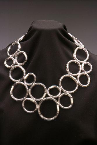 tube necklace by Ingrid Goldbloom Bloch, via Flickr using plumbing tube