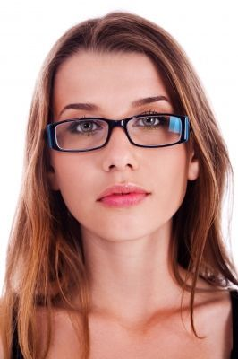 Women s Eyeglass Frames For Square Faces : Diamond face shape, Woman reading and Reading glasses on ...