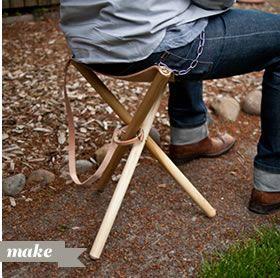 DIY Folding Tripod Camp Stool
