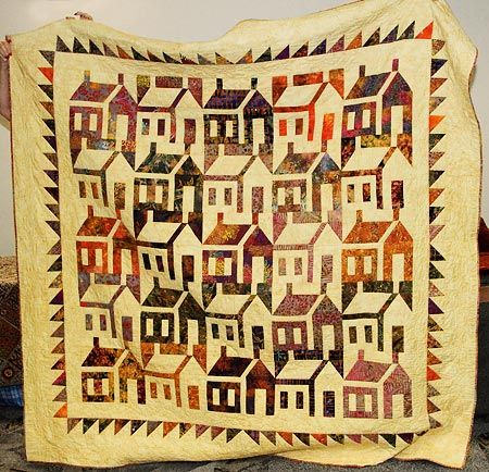 house quilt | Cathy Izzo's School House Quilt