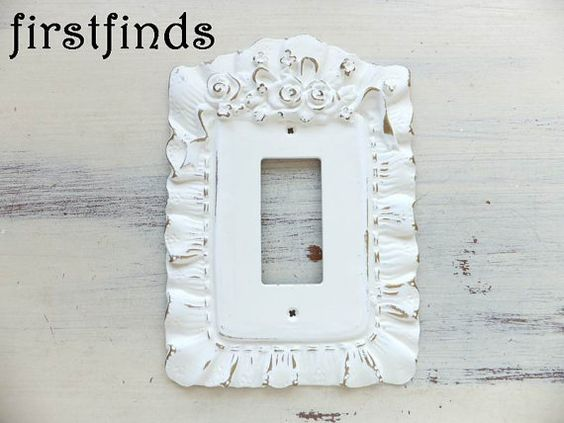 GFI Light Switch Plate Outlet Cover Shabby Chic Off by Firstfinds
