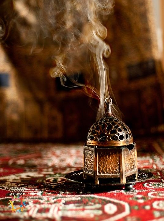 There is nothing like thick, resiny incense to make a home cozy.: