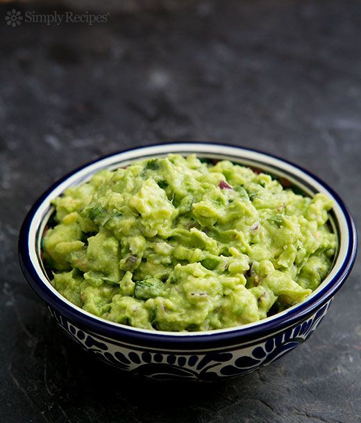 Perfect guacamole! You can start as simple as mashed avocados with salt, and then build as you like with lime or lemon juice, chiles, cilantro. On SimplyRecipes.com