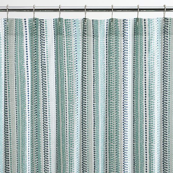 Shower Curtains crate and barrel shower curtains : Pearl Strings Shower Curtain - Crate and Barrel | Pearls, Shower ...
