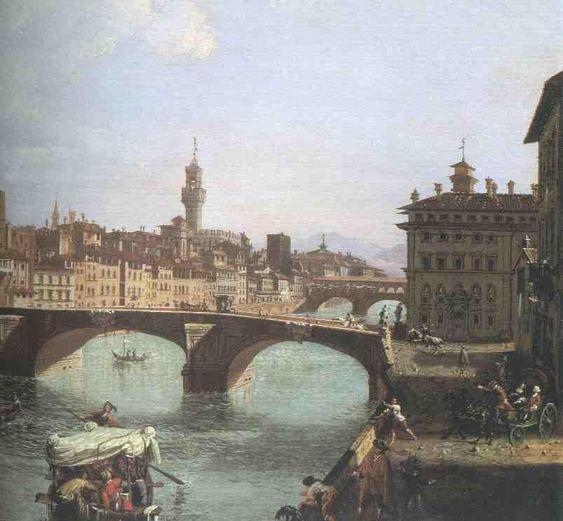 Vedute von Florenz Gemälde von Giuseppe Zocchi (1711–1767)