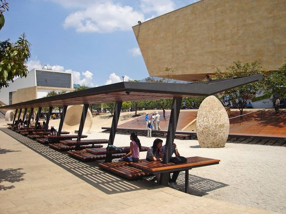 Materiales d i dise o espacios p blicos colombia for Ejemplos de mobiliario urbano