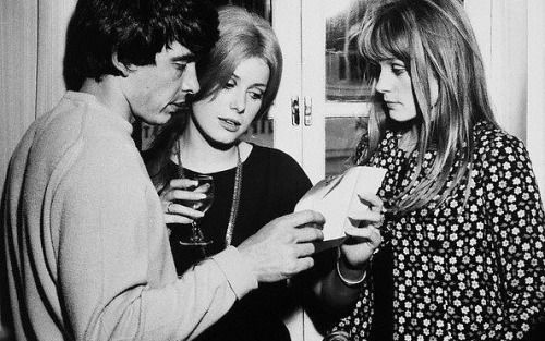 David Bailey, Catherine Deneuve and  Françoise Dorléac
