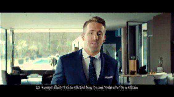 Ryan Reynolds - Comercial da banda larga BT Infinity #cinematic #anamorphic