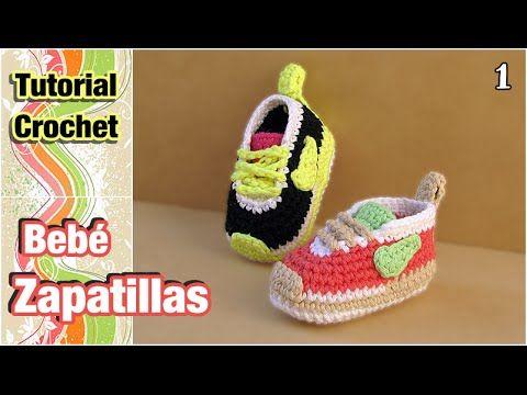 Cómo tejer Zapatillas, patucos, escarpines para bebé a crochet (1 de 2). Link download: http://www.getlinkyoutube.com/watch?v=_3bNt2U4Mkc
