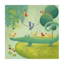 Tableau Le Crocodile Thème jungle