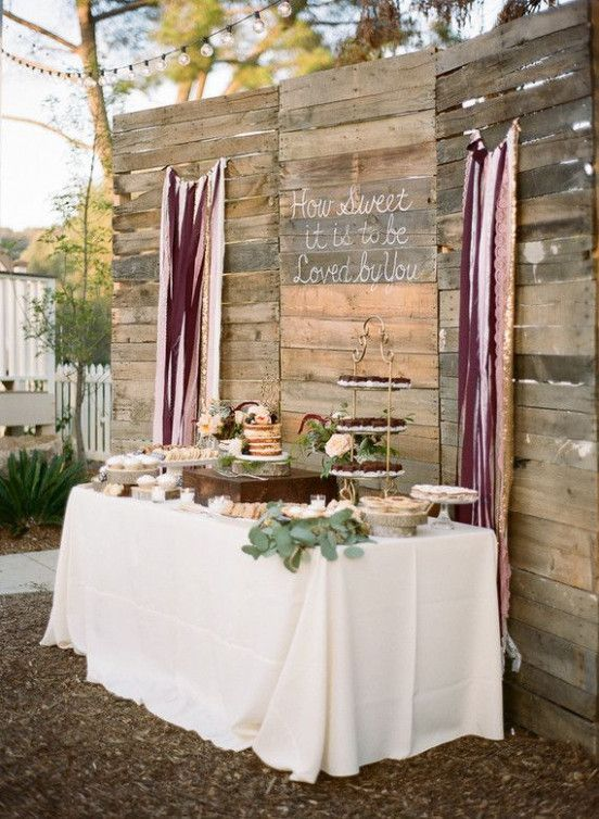 Easy Wedding Backdrop Dessert Tables Wedding Cake Table Decorations Wedding Dessert Table Rustic Cake Table Decorations