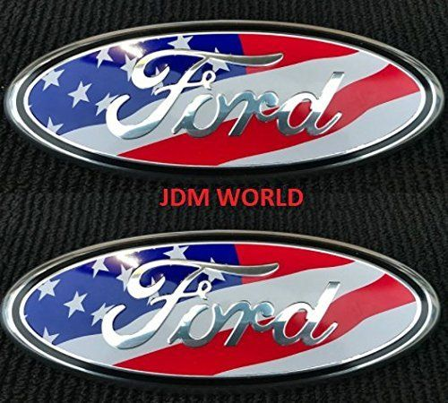 "FORD 2004-2014 F150 Front Grille Tailgate Emblem Oval Badge Nameplate 7/""9/"" NEW"