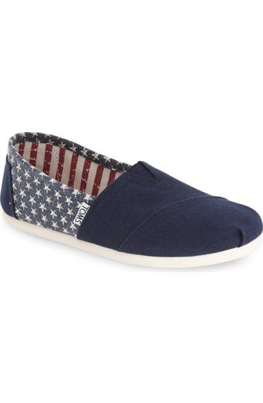patriotic slip-on Toms