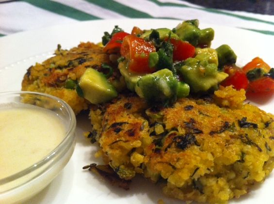 "Millet ""Falafel"" with Avocado and Tomato Relish"
