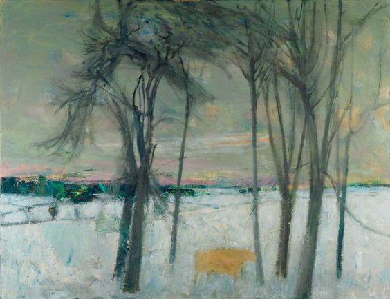 """""""Winter, Dalmeny"""" by John Houston, 1963"""