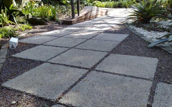 Placas De Concreto Para Entrada De Garagem – Pesquisa Google~ Seixos Para Jardim Campinas