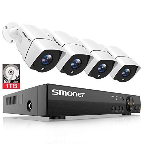 Smonet Home Security Camera Systems 8 Channel 5 In 1 5mp Video Security System 1t Security Cameras For Home Home Security Camera Systems Security Camera System
