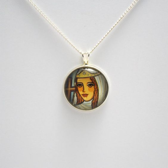 St helena necklace st helena jewelry saint helena pendant st helen st helena necklace st helena jewelry saint helena pendant st helen saint pendant saint jewelry catholic aloadofball Choice Image