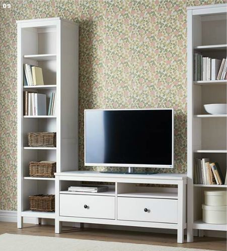 Entertainment Center Design Ideas example of a classic living room design with beige walls and a freestanding tv I Want To Do This In Blackbut Possibly With Wider Shelves On