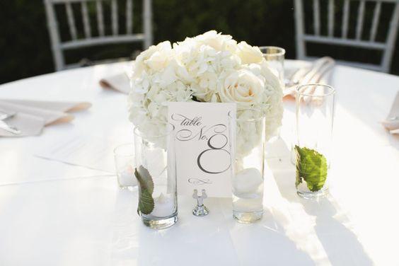 White hydrangeas and roses