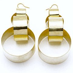 Large Interlocking Links Earrings
