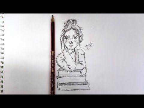 Things To Draw When Bored أفكار رسم سهلة و بسيطة رسومات سهلة و بسيطة كيف ترسم بنت بالرصاص مع كتب Youtube Sketches Drawings Pencil Drawings Easy