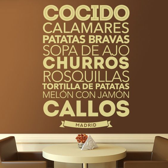 Stickers wall stickers and tortillas on pinterest - Vinilos para la cocina ...
