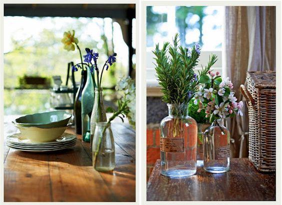 Flowers in bottles - Indian Summer