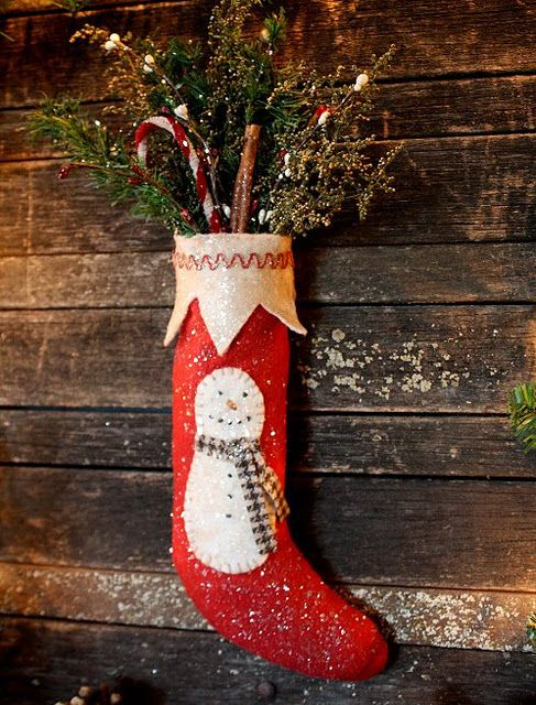 Love this Stocking!: Christmas Crafts, Primitive Folk Art, Crafty Stockings, Christmas Stockings, Christmas Decor, Holidays Stockings, Stockings Mittens, Art Stocking