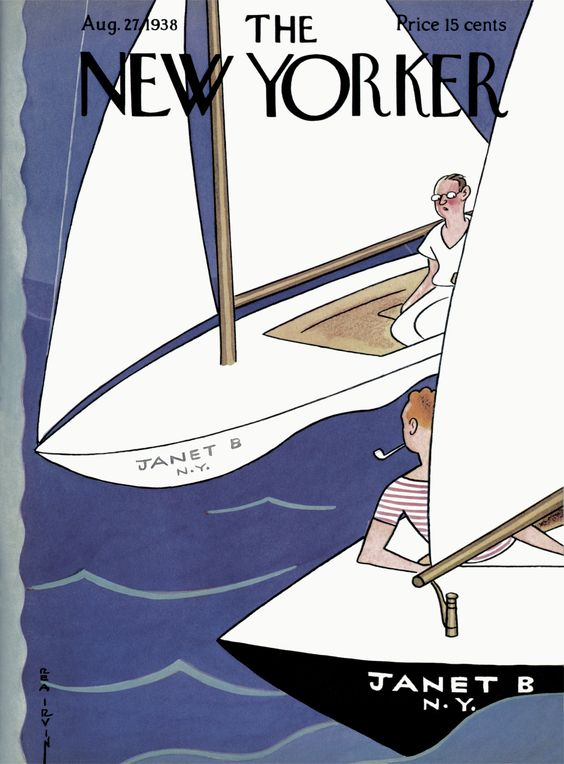 The New Yorker - Saturday, August 27, 1938 - Issue # 706 - Vol. 14 - N° 28 - Cover by : Leonard Dove