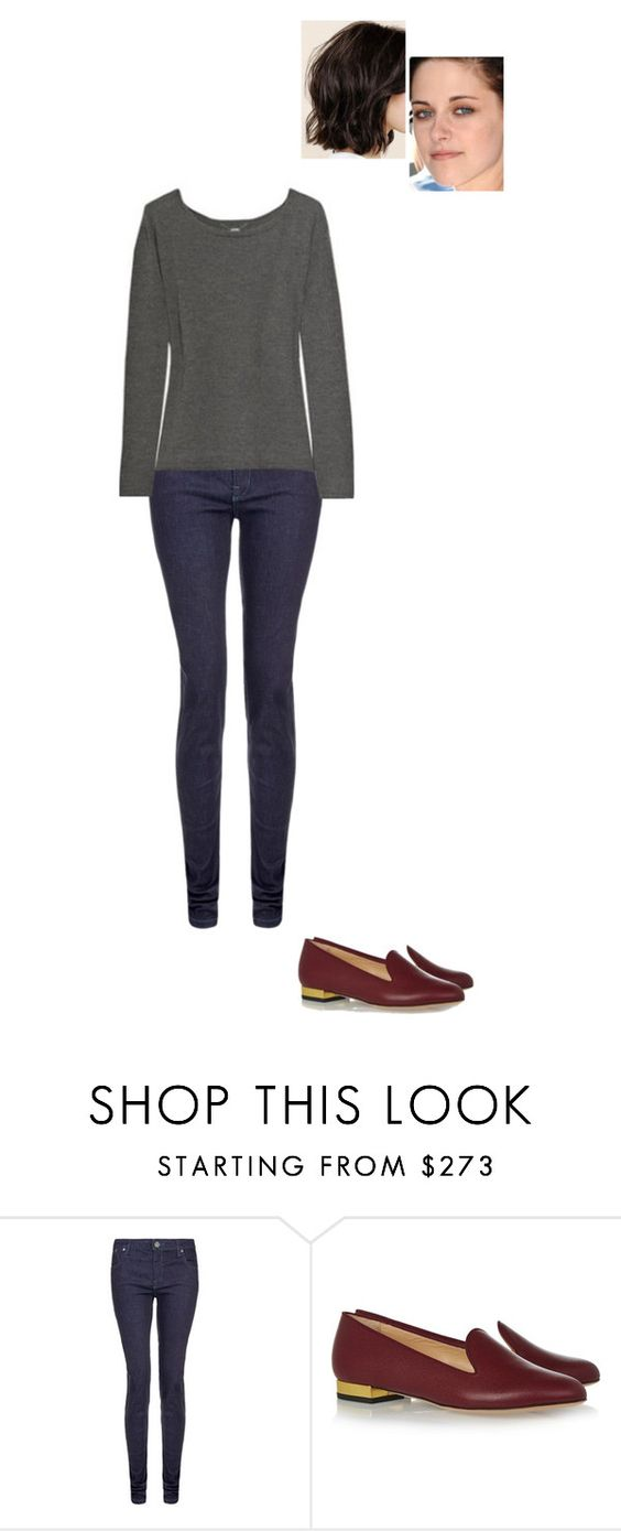 """Untitled #5379"" by gracebeckett ❤ liked on Polyvore featuring dVb Victoria Beckham and Charlotte Olympia"