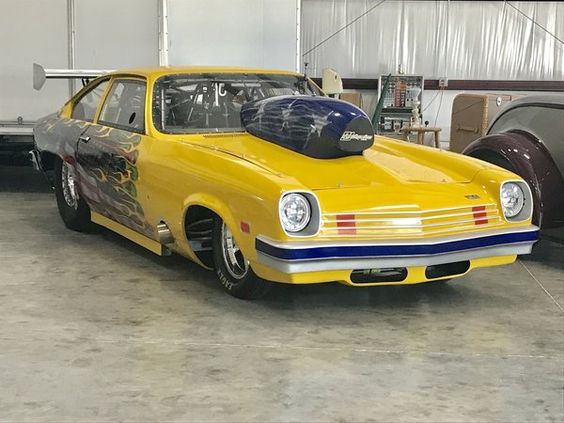 1974 Vega Fastback Originally Built As A Double Frame Rail Pro Mod With A 526 Blown Hemi Has Been C Custom Muscle Cars Chevy Muscle Cars Drag Cars For Sale