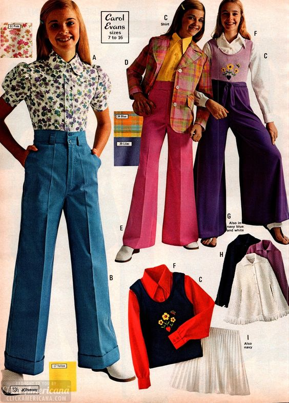 '70s clothes for girls from the 1973 JC Penney catalog at Click Americana - #70s #seventies #70sfashion #clothesforgirls #70sgirls #vintagefashion #retrofashion #fashionforgirls #vintagecatalogs #1973 #jcpenneycatalog #clickamericana