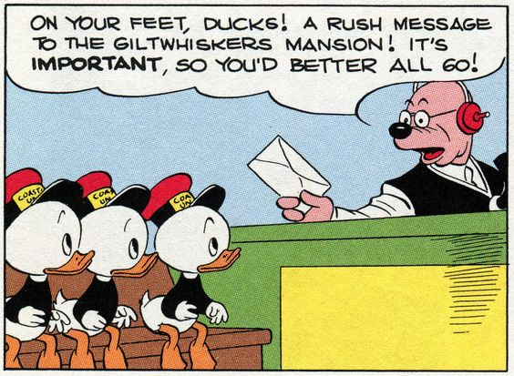 """A rush message   """"Wired"""" (1948) by Carl Barks"""