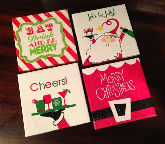 Hand Made Fun Whimsical Christmas Ceramic Tile By