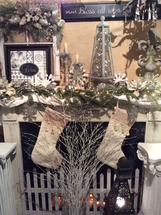 Faux fireplace display in Daydreams Gift Shop | Daydreams Gift ...