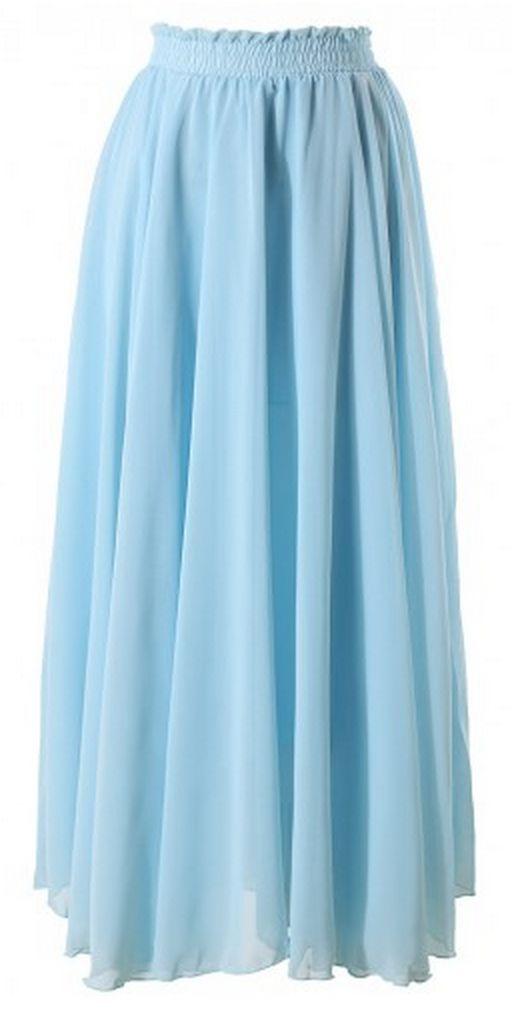 light blue maxi skirt redskirtz