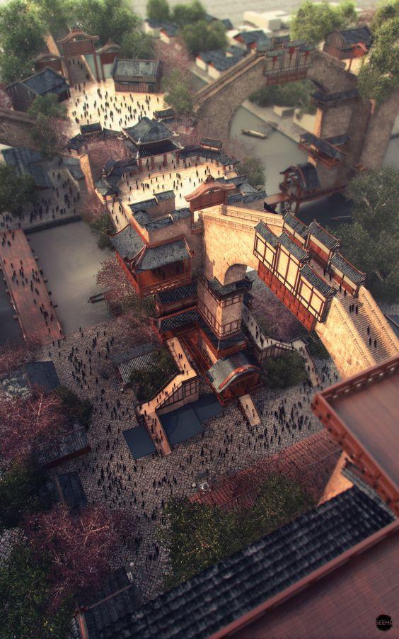 Imperial City by Sergio Acevedo Ruiz | Fantasy | 3D | CGSociety