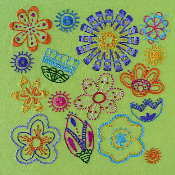 Bloom flower embroidery pattern PDF by ShinyHappyWorld on Etsy, $5.00