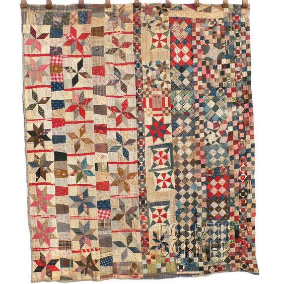 c. 1900 Folk Art Quilt.  LOVE, LOVE, LOVE!