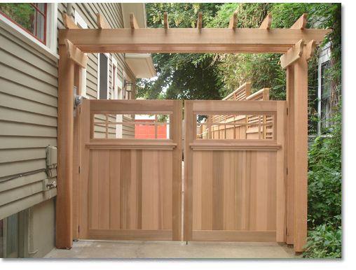 Wood Fence Gates Creative Fences Deck Portland OR Wood