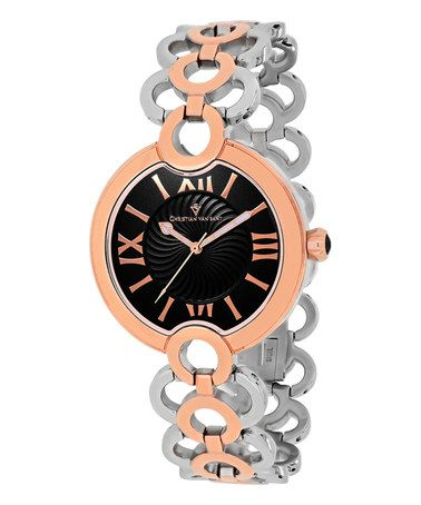Another great find on #zulily! Black & Two-Tone Twirl Bracelet Watch #zulilyfinds