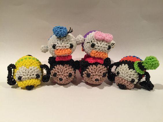 Rainbow Loom Amigurumi Mouse : Disneys Mickey Mouse Tsum Tsum Rubber Band Figure ...